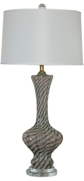 Dino Martens - Clove Shaped Murano Lamp with Nickel Hardware