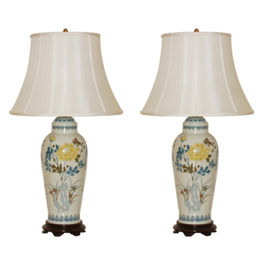 The Marbro Lamp Company - Pair of Vintage Porcelain Lamps