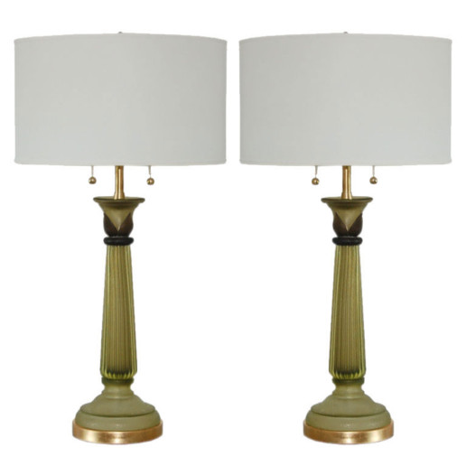 Marbro Lamp Company - Murano Lamps of Olive Green