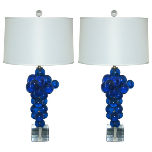 Bubble Lamps of Resin in Sapphire by Silvano Pantani, 1966