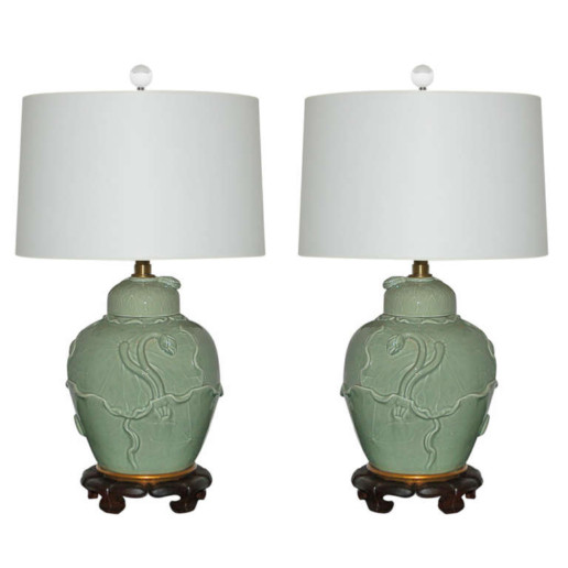 The Marbro Lamp Company - Vintage Celadon Lamps
