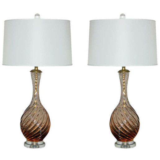 Marbro Lamp Company - Murano Lamps of Peach Frost