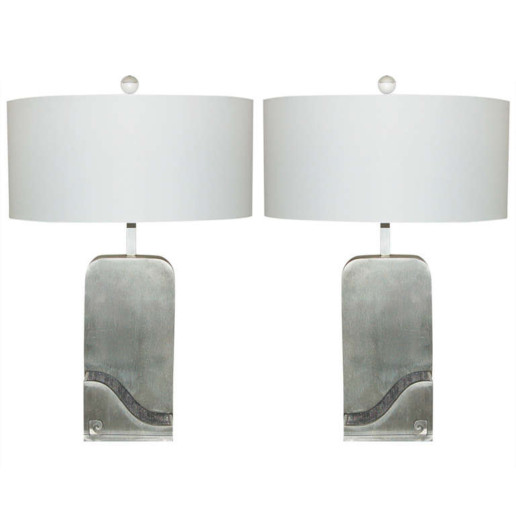 Pierre Cardin Stainless Steel Capsule Lamps