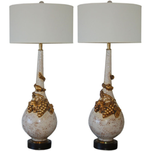 Statuesque Vintage Ceramic Table Lamps by Nardini Studios
