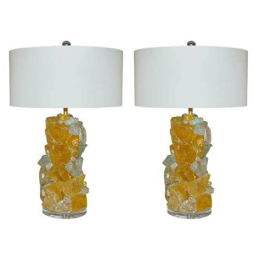 Rock Candy Lamps in LEMON FROST
