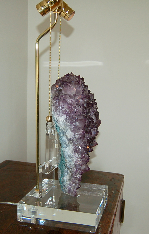 Amethyst Crystal Table Lamp Heart Shaped Swank Lighting