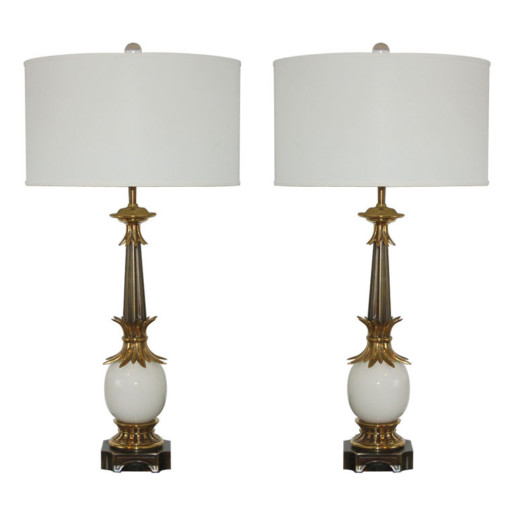 Pair of Stiffel Ostrich Egg Lamps from the 1950's