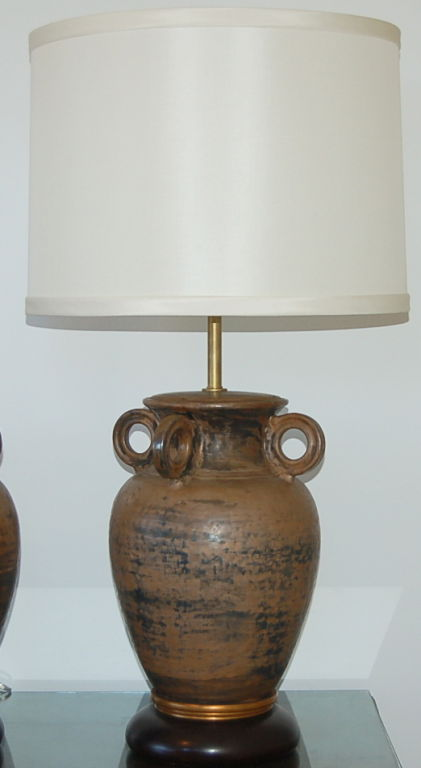 c table lamp pottery saratoga lamps rustic base products barn