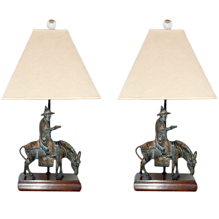Wonderful Cast Bronze Figurine Lamps By Frederick Cooper