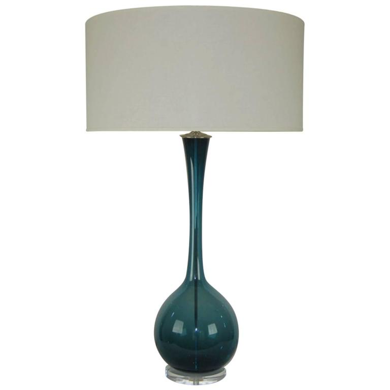 Marbro glass table lamp by arthur percy teal blue swank lighting marbro glass table lamp by arthur percy teal blue mozeypictures Image collections