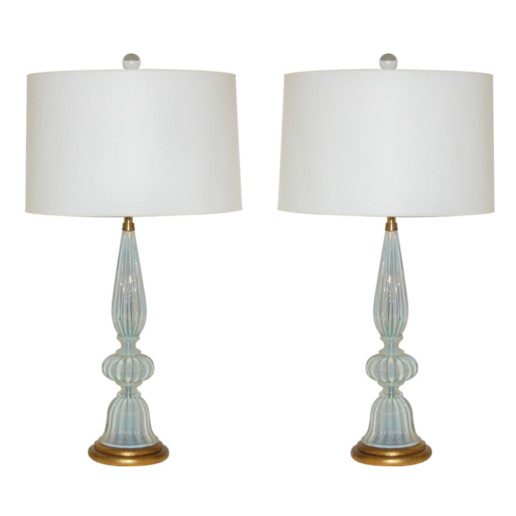 Marbro Lamp Company - Murano Lamps of White Opaline
