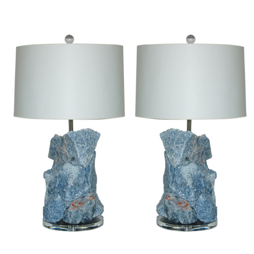 ROCK CANDY Lamps in BLUE CALCITE