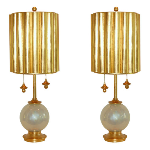 Marbro Lamp Company - Murano Lamps in Pearl Opaline
