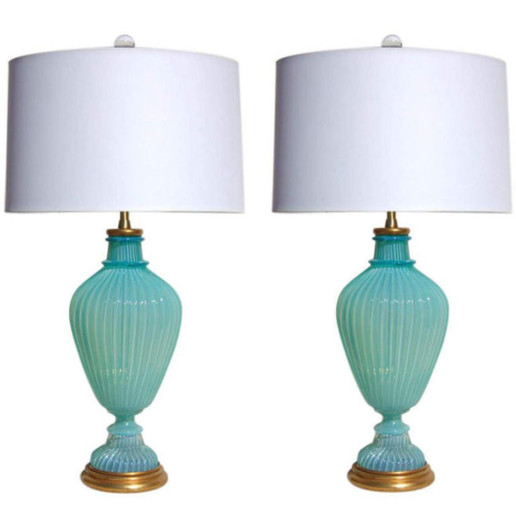 Marbro Lamp Company - Murano Lamps of Tiffany Box Blue