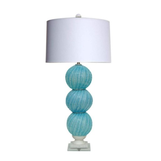 Vintage Murano Stacked Ball Lamp in Soft Sky Blue