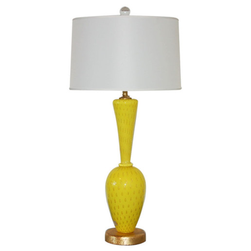 Murano Lamp in RARE Canary Yellow