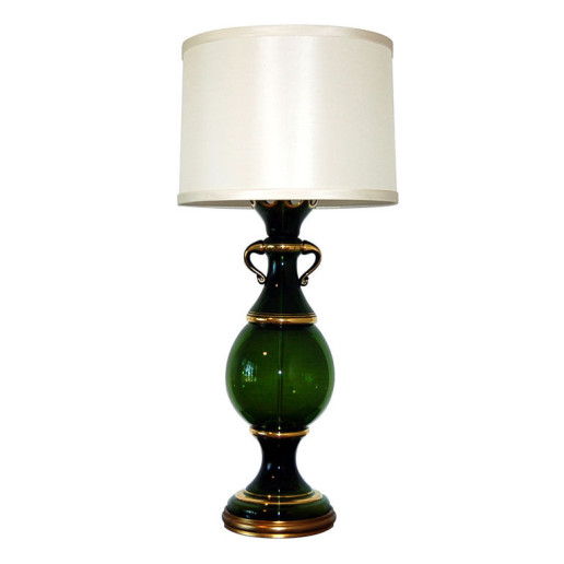 The Marbro Lamp Company - Deep Green Vintage Murano Lamp