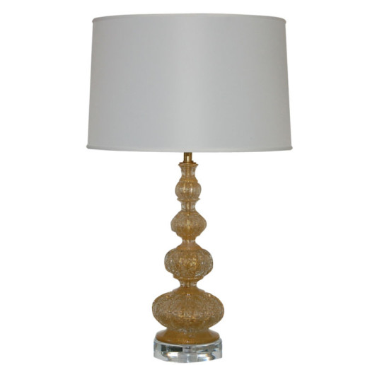 Brilliant Gold Vintage Murano Lamp