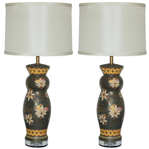 Deruta Hand Painted Italian Ceramic Table Lamps
