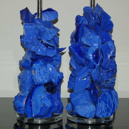 ROCK CANDY Lamps in PERIWINKLE