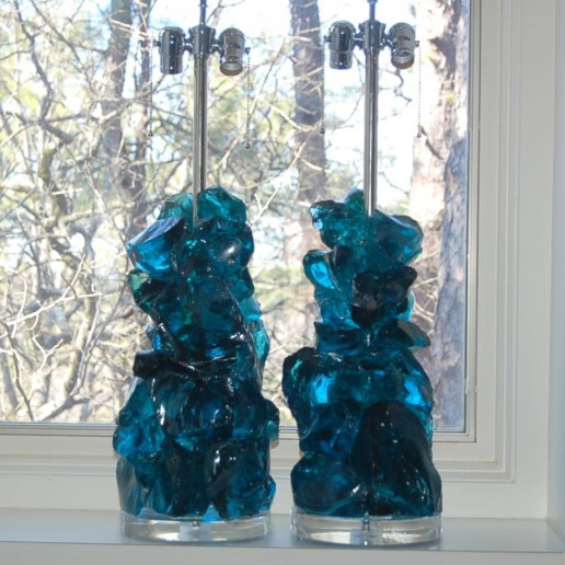ROCK CANDY Lamps in TEAL BLUE