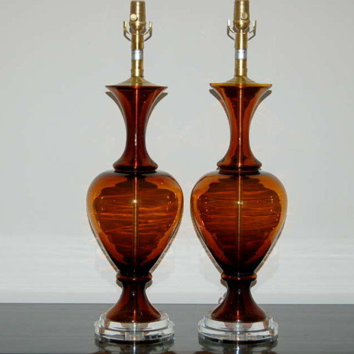 Pair of Vintage Murano Table Lamps by the Marbro Lamp Company