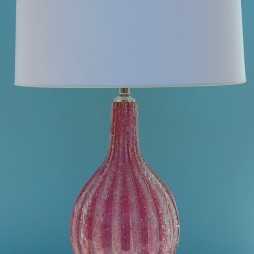 Pulegoso Murano Lamps in Raspberry Ice