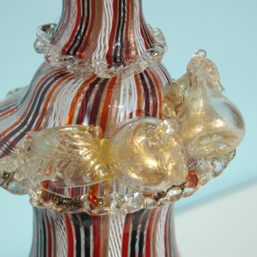 Dino Martens - Filigrana Murano Lamp with Applied Fruit