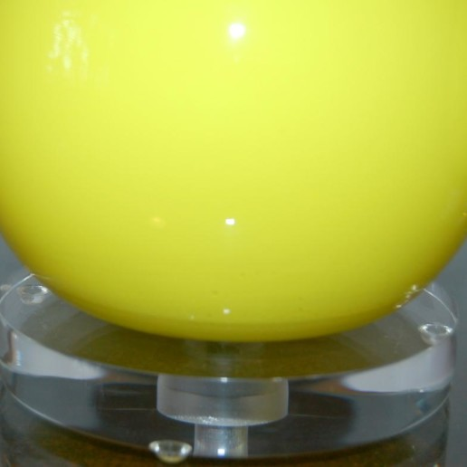 Extremely Rare Canary Yellow Vintage Murano Lamps