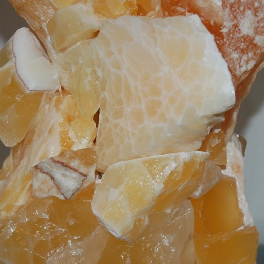 ROCK CANDY Calcite Lamps in TANGERINE