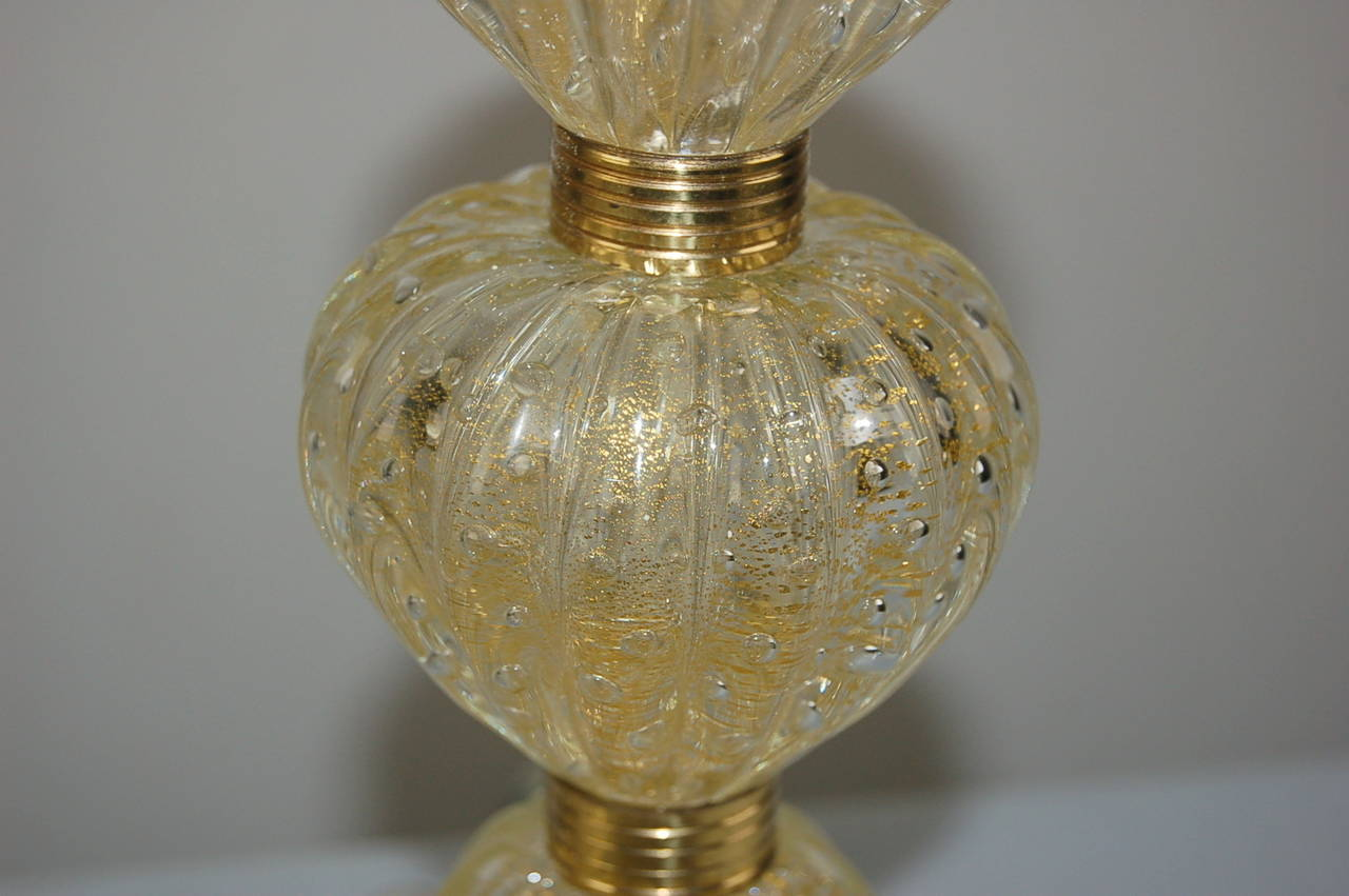 Vintage Murano Glass Table Lamps Champagne Swank Lighting