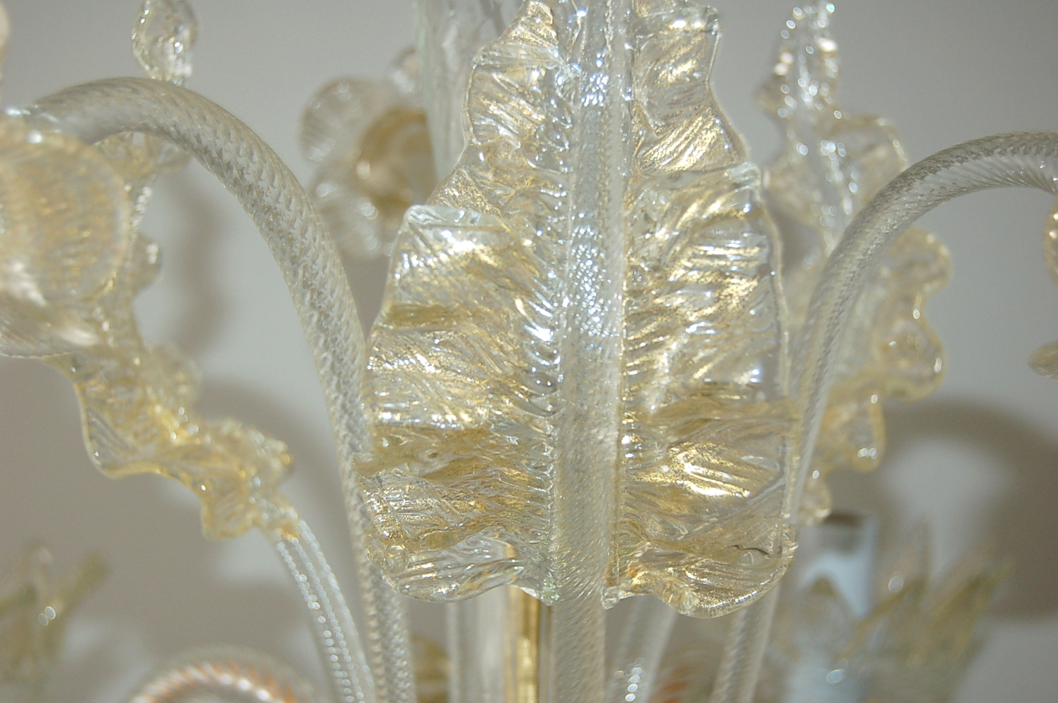 Vintage Murano Glass Chandelier Of Murano Crystal With